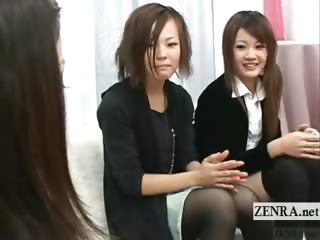 Subtitled CFNM real Japanese..