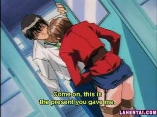 Horny hentai babe gets toyed..