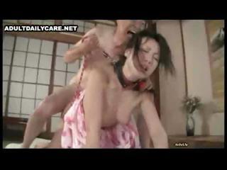 Horny Japanese men licking..
