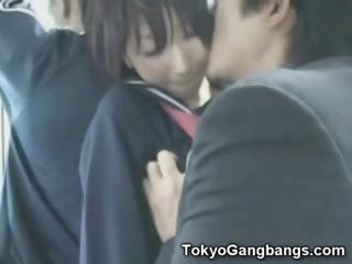 Asian Schoolgirl Fingered in..